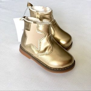 Toddler 4/5 Gold Ankle Booties